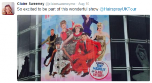 Hairspray Musical Claire Sweeney