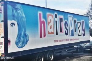 Hairspray the Musical UK Tour lorry
